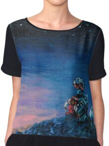 Wall-E Repainted Chiffon Top