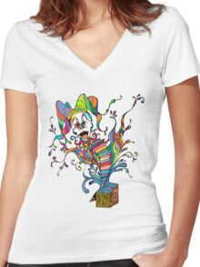 Jack In The Box Women's Fitted V-Neck T-Shirt