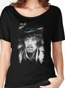 Jimmy in Black and White Women's Relaxed Fit T-Shirt