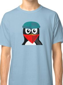 Crook Penguin Artwork for Black hat Coders and Nerds  Classic T-Shirt