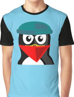 Crook Penguin Artwork for Black hat Coders and Nerds  Graphic T-Shirt