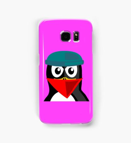 Crook Penguin Artwork for Black hat Coders and Nerds  Samsung Galaxy Case/Skin