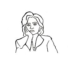 Hillary Clinton Eye-roll  Photographic Print
