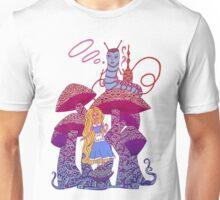 Alice and The Hookah Smoking Caterpillar Unisex T-Shirt