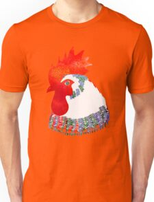 Watercolor Rooster.  Unisex T-Shirt