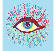 Weird Blue Psychedelic Eye Photographic Print