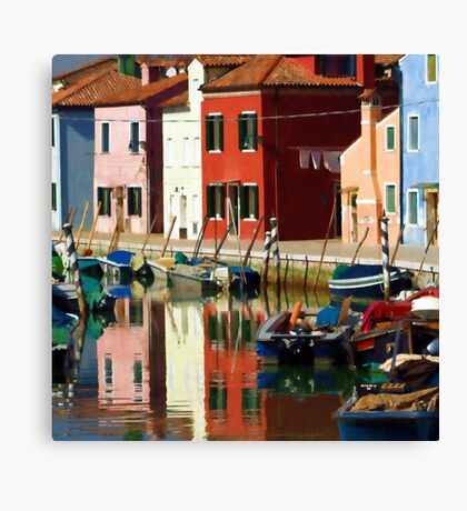 magic burano Canvas Print
