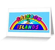 Rainbow Islands Title Greeting Card