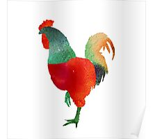 Watercolor Rooster.  Poster
