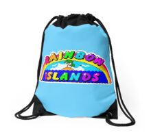 Rainbow Islands Title Drawstring Bag