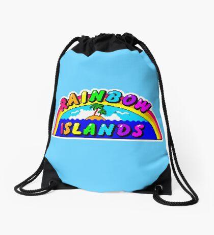 Rainbow Islands Title Drawstring Bag