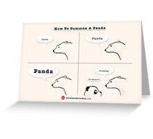 How To Summon A Panda Greeting Card