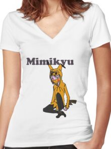 The Lonely Teenage Mimikyu Women's Fitted V-Neck T-Shirt