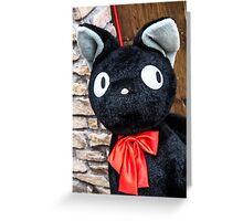 Black cat doll, Shimokitazawa, Tokyo, Japan Greeting Card