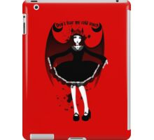 dON T fear my cold touch anime goth girl iPad Case/Skin