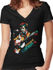COHEN Women's Fitted V-Neck T-Shirt