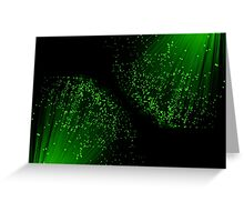 Green fiber optical abstract. Greeting Card
