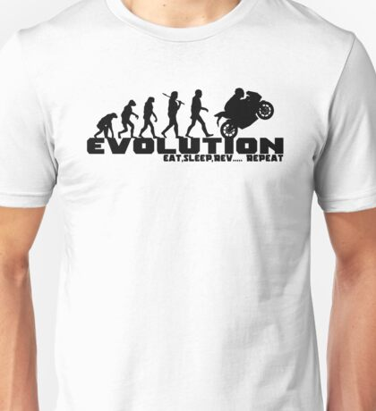 Biker Evolution T-Shirts and Hoodies Unisex T-Shirt