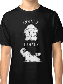 Funny Elephant Inhale Exhale Yoga Classic T-Shirt