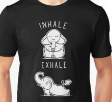 Funny Elephant Inhale Exhale Yoga Unisex T-Shirt