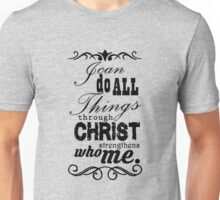 Christian Philippians black Unisex T-Shirt