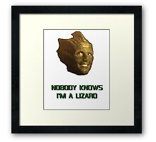 Doctor Who's Madame Vastra - Nobody Knows I'm a Lizard Framed Print