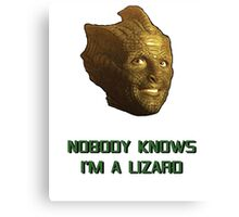 Doctor Who's Madame Vastra - Nobody Knows I'm a Lizard Canvas Print
