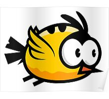 Cute Yellow Bird Flying Poster