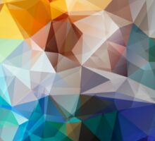 Abstract background of triangles polygon print. Bright design colors Sticker