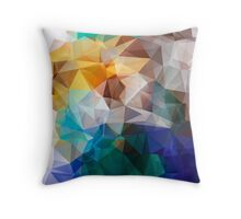 Abstract background of triangles polygon print. Bright design colors Throw Pillow