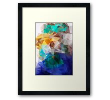 Abstract background of triangles polygon print. Bright design colors Framed Print