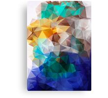 Abstract background of triangles polygon print. Bright design colors Canvas Print