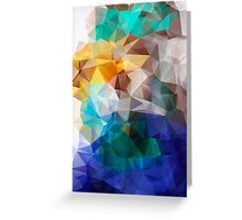 Abstract background of triangles polygon print. Bright design colors Greeting Card