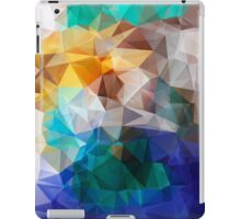 Abstract background of triangles polygon print. Bright design colors iPad Case/Skin