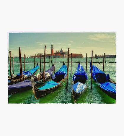 blue gondolas Photographic Print