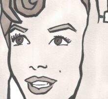 Marilyn Monroe Crown Portrait  Sticker