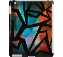 Abstract background of triangles polygon print. Bright dark design colors iPad Case/Skin