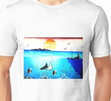 Beautiful Underwater Scene Painting Unisex T-Shirt