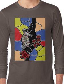 Authentic Aboriginal Art - Platypus Dreaming Long Sleeve T-Shirt