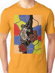 Authentic Aboriginal Art - Platypus Dreaming Unisex T-Shirt