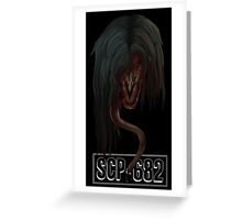"""SCP-682 """"Hard To Destroy Reptile"""" Greeting Card"""