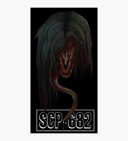 """SCP-682 """"Hard To Destroy Reptile"""" Photographic Print"""