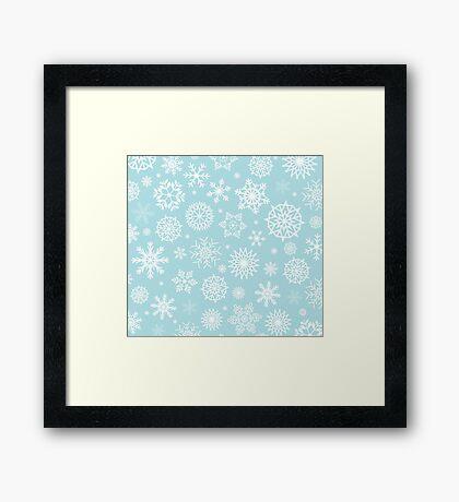 Christmas Snow flakes Framed Print
