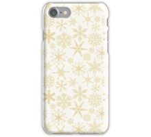 Gold Christmas Snowflakes pattern iPhone Case/Skin