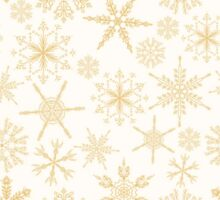 Gold Christmas Snowflakes pattern Sticker