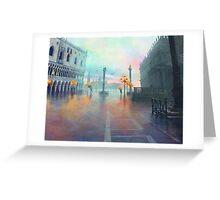 Rainy Evening in Venice Greeting Card