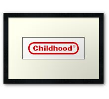 Nintendo childhood Framed Print