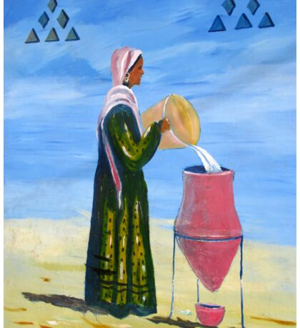 A Nubian Woman filling her Water Urn Sticker