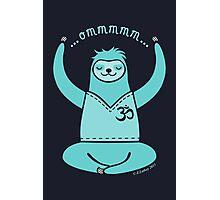 Om Yoga Sloth - blue Photographic Print
