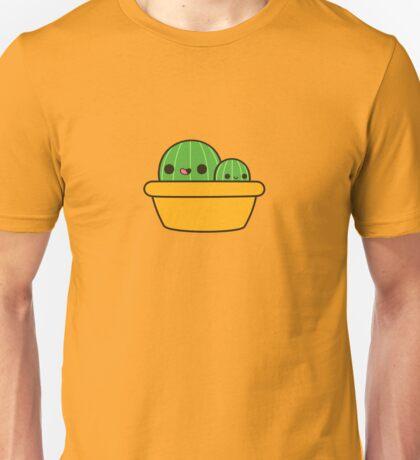 Cute cactus in yellow pot Unisex T-Shirt